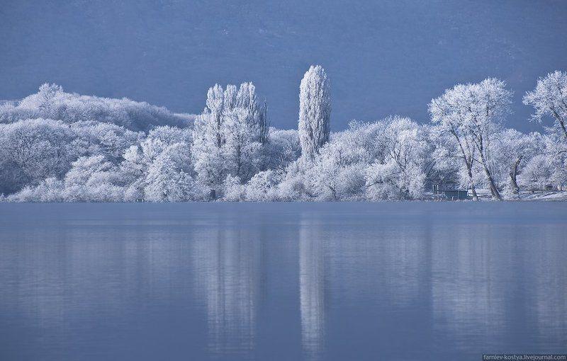 Бекан, Зима, Озеро, Пейзаж, Северная осетия Седой Беканphoto preview