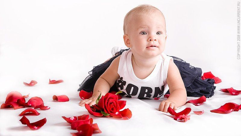 child, roses, flowers Улькаphoto preview