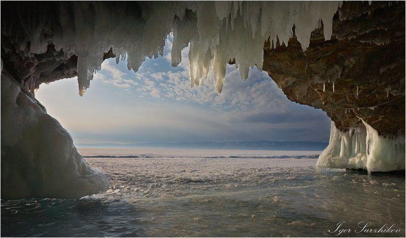 байкал, зима, лёд, грот Гротphoto preview