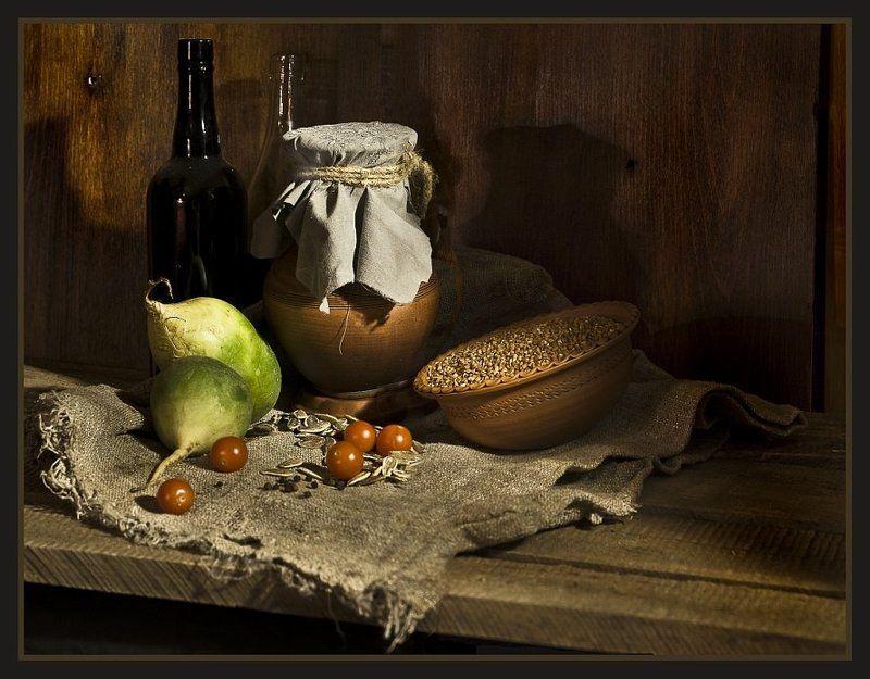 гречиха, редька, глина, абаджян, натюрморт Глинянно-овощной натюрмортphoto preview