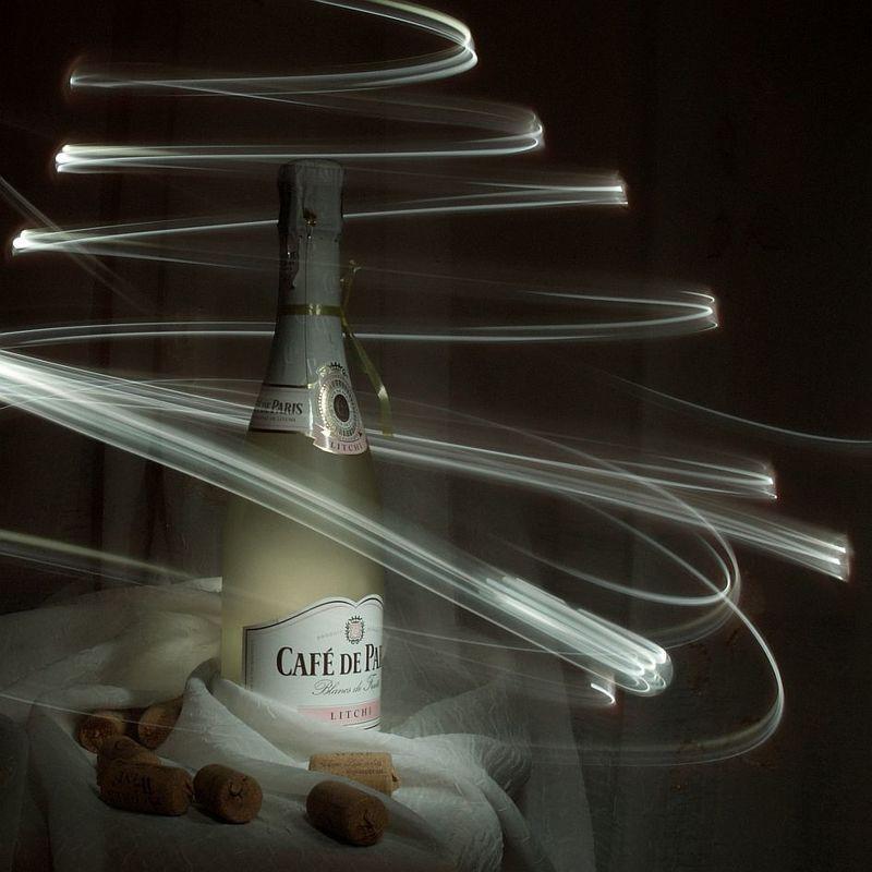 новый год, шампанское новогодняяphoto preview