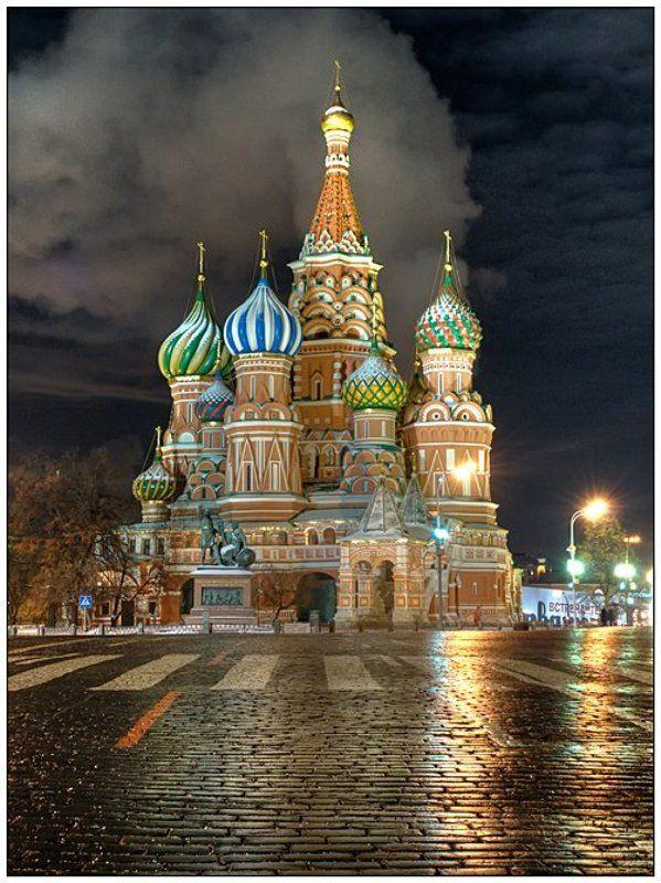 москва, зима, ночь, красная площадь, храм Прогулки по Москвеphoto preview