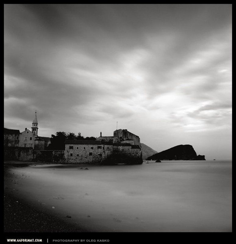 travel, bw, hasselblad, 6x6, чб Старый город Будваphoto preview