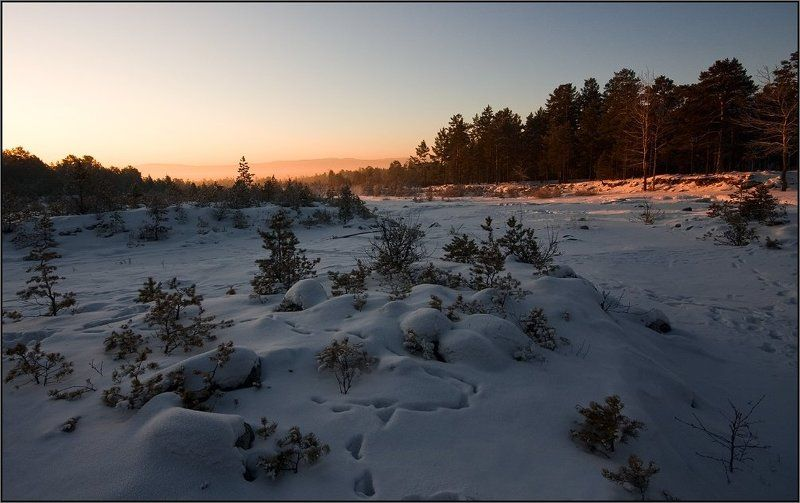 утро, зима, река, кырганга photo preview