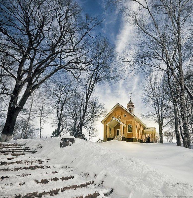 пейзаж, храм, монастырь Свято-Михайловско-Афонский мужской монастырьphoto preview
