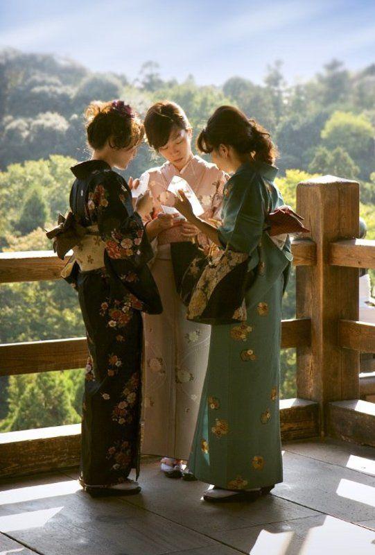 Осень в Киото. Подруги.photo preview