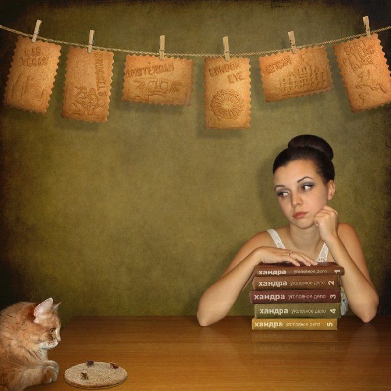 Блохи, Девушка, Кошка, Мечты, Хандра, Юмор Про зимнюю хандру...photo preview