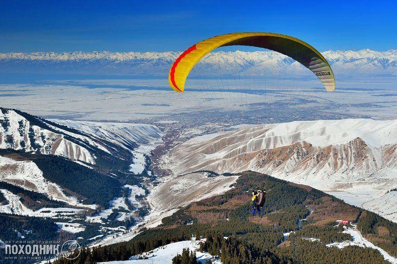 В полёте над Иссык-Кулемphoto preview
