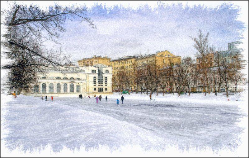 Зима на Чистых прудахphoto preview