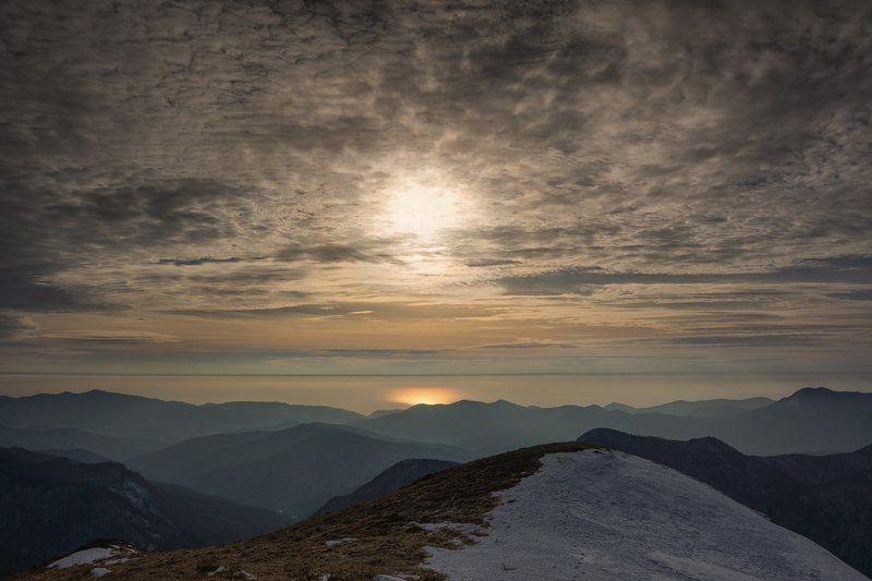 горы, закат, черное море Про море, которое можно увидеть в горах...photo preview
