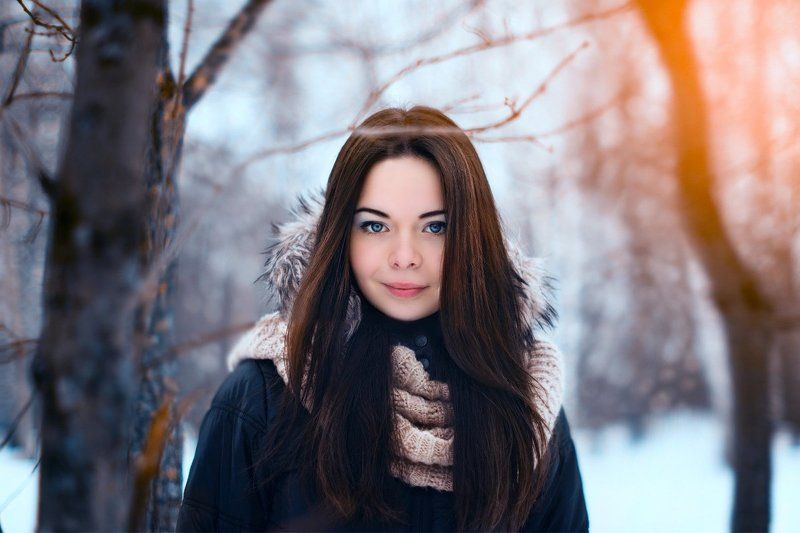 2stripe, Девушка, Зима, Лес, Портрет, Россия Анастасияphoto preview