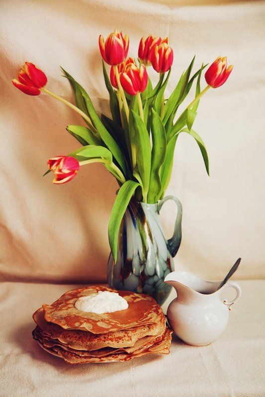 Натюрморт с тюльпанами.photo preview