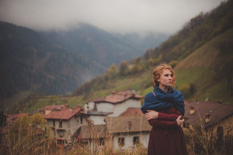 Girl, Mountains, Wind, Горы, Девушка, Природа, Туман Maryphoto preview