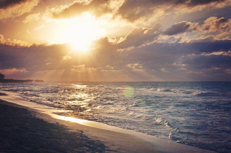 Атлантический океан, Куба, Океан, Пейзаж Закат на Атлантикеphoto preview