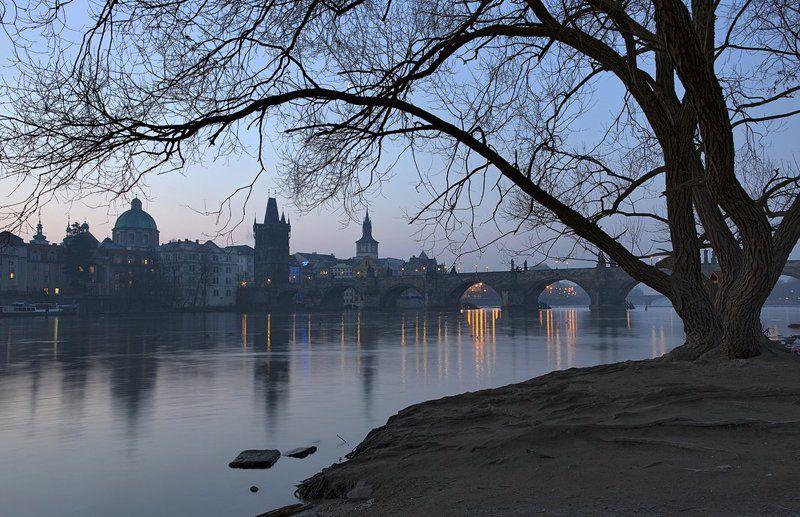 Prague, Vltava, Влтава, Прага, Чехия Утро на Влтавеphoto preview