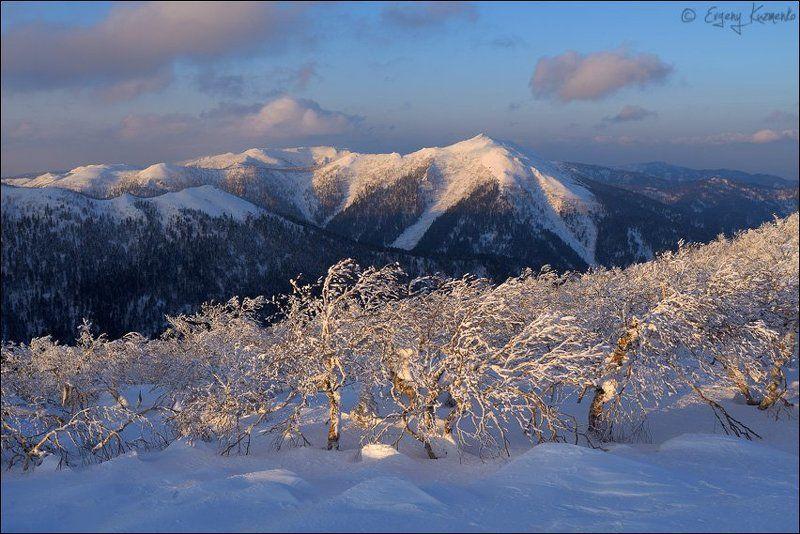 Гора пушкинская, Закат, Зима, Сахалин Гора Пушкинская - несколько портретовphoto preview