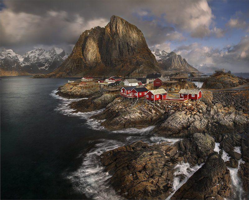 норвегия, лофотены Рыбацкая деревушка.photo preview
