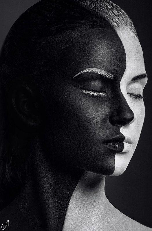 Девушка, Модель, Черно-белое Dark sidephoto preview