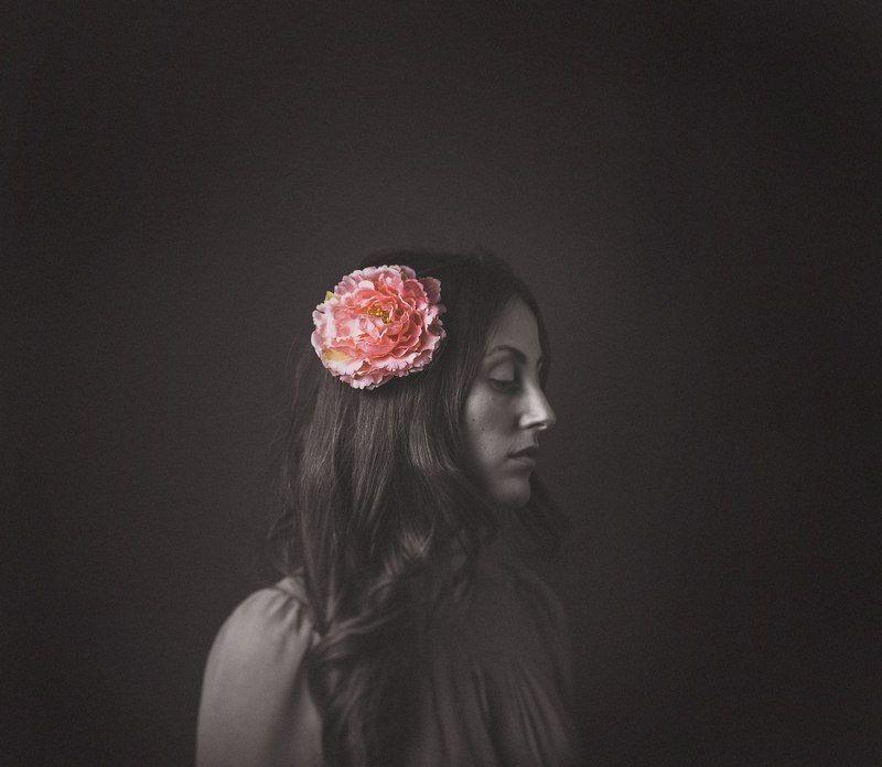 портрет, фото, девушка, цветок, студия, Flowerphoto preview