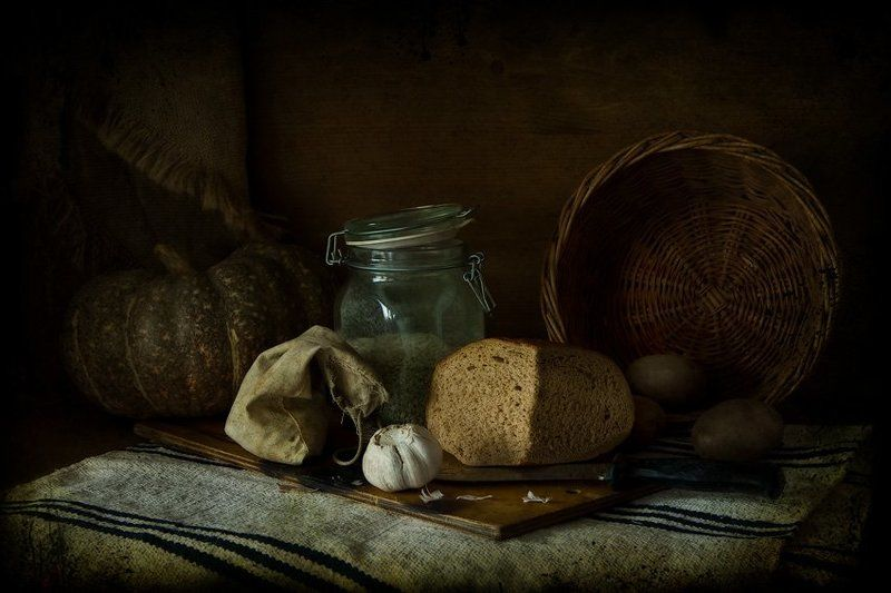 Хлеб с тыквой и чесноком.photo preview