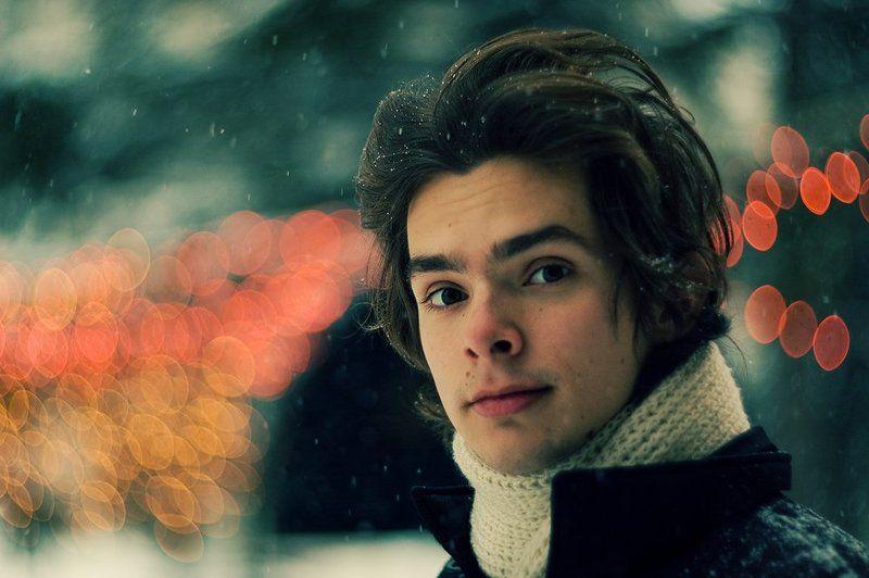 боке, автопортрет, снег, гирлянда, гелиос40 in love bokehphoto preview