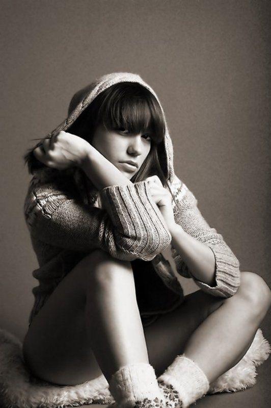 ч/б, девушка, портрет, лолита Lolitaphoto preview