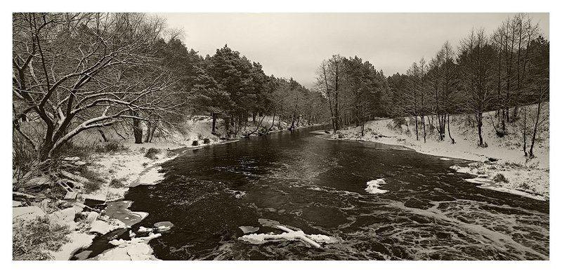зима, река Зимняя река #1photo preview