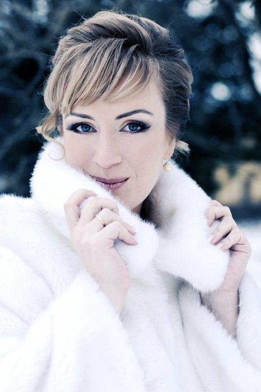 девушка, снег, зима, портрет снежная королеваphoto preview