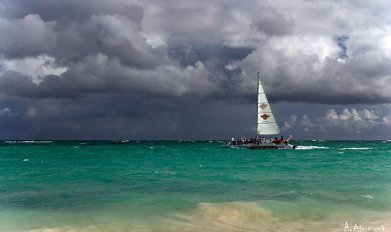republica,dominicana,атлантика,море,парус,яхта,шторм,дождь photo preview