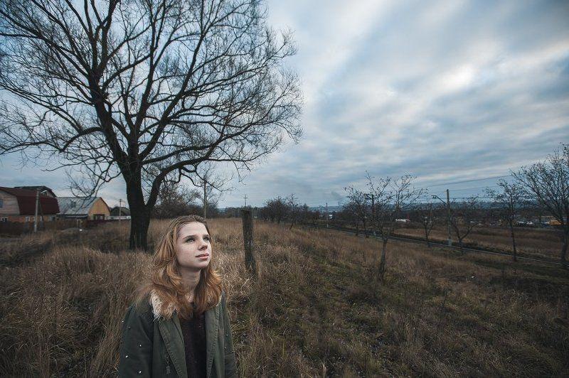 Осень, Портрет, Портрет девушки, Широкий ***photo preview