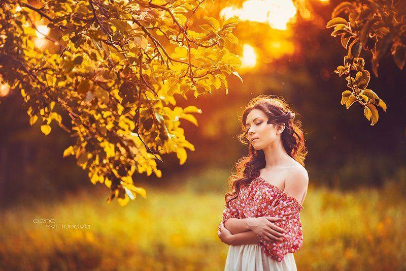 Девушка, Закат, Красота, Нежность, Природа Катяphoto preview