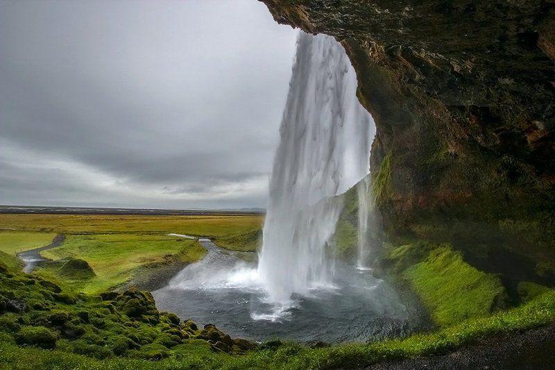 Водопад Сельяландфосс.photo preview
