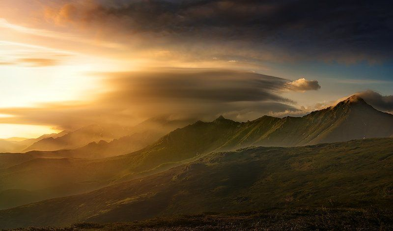 Bulgaria, Cloud, Kupena, Landscape, Mountain, Stara planina, Sunrise After the sunrisephoto preview