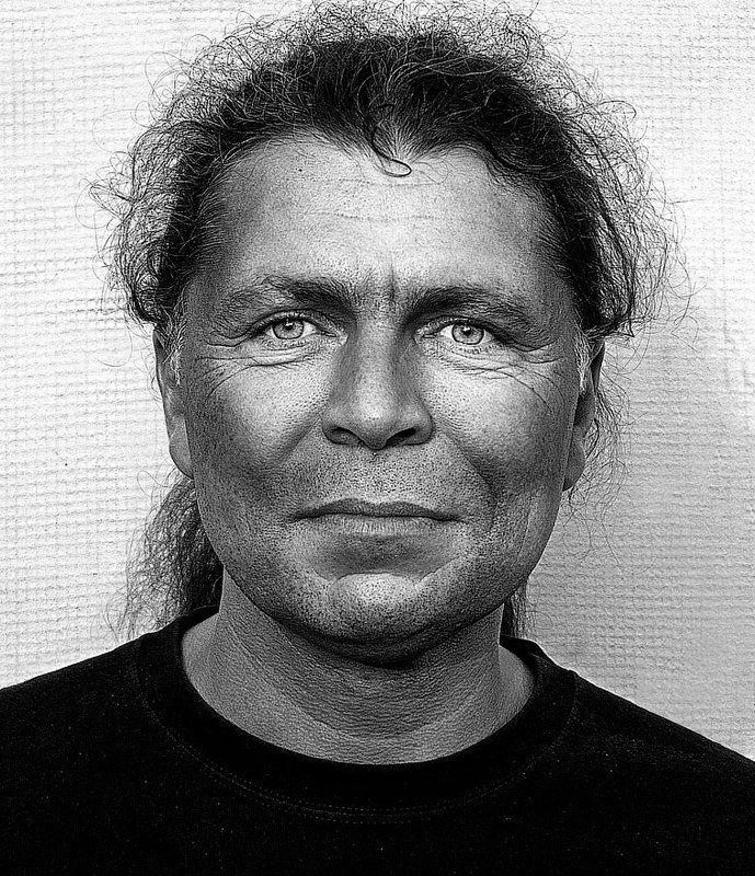 Black and white, Musician, artist Портрет музыкантаphoto preview