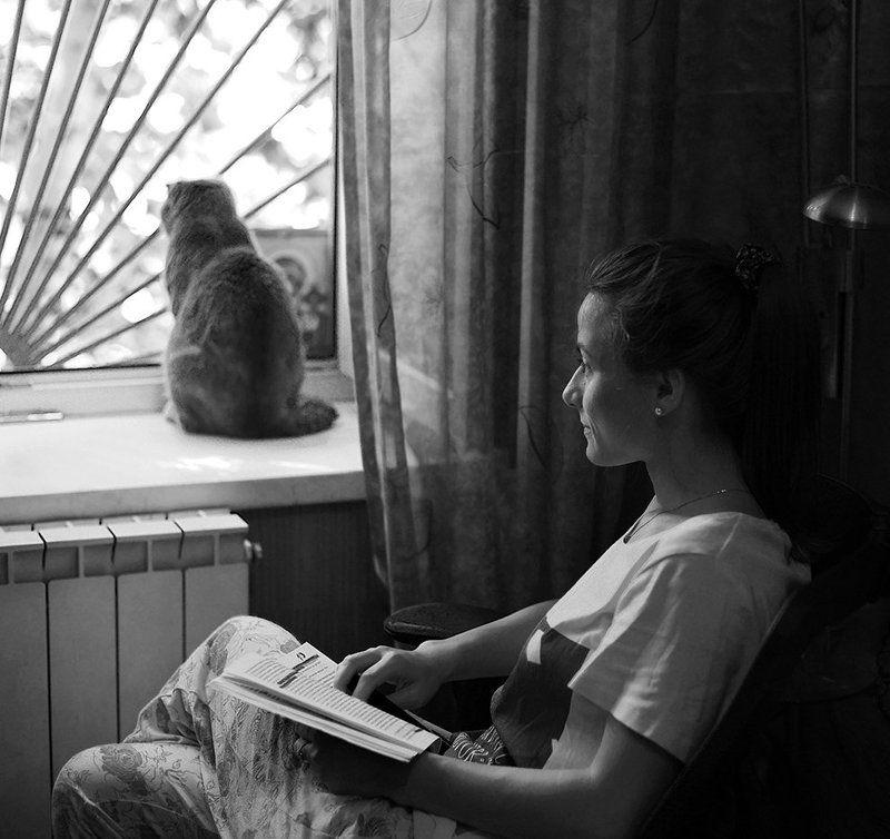 человек и кошкаphoto preview
