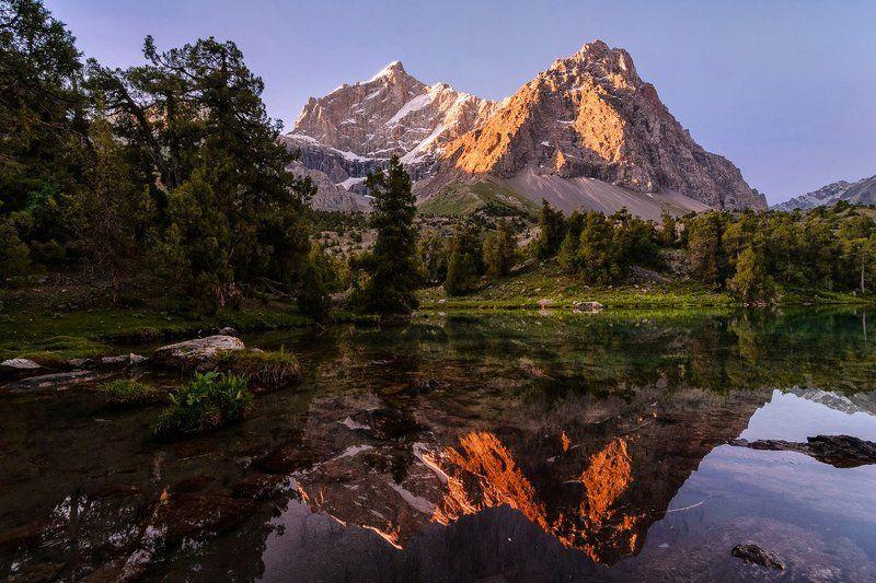 таджикистан, фанские горы, алоуддинские озера, кули калон, отражение Место, где оставляют сердце...photo preview