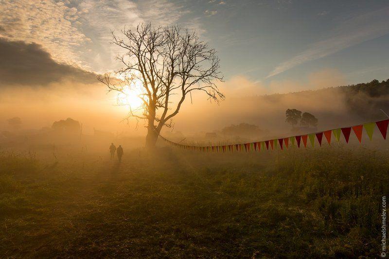 Дерево, Калуга, Люди, Россия, Туман, Фестиваль Доброе утроphoto preview