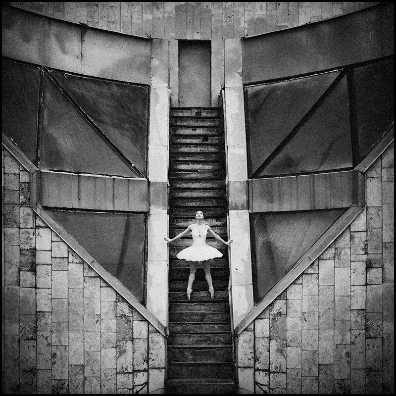 Балерина, Балет, Фото, Фотограф, Черно-белое балетphoto preview