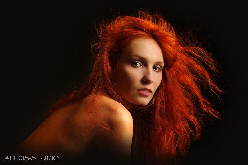 fire, girl, огонь, девушка, рыжая, волосы, alexis-studio.com FireGirlphoto preview