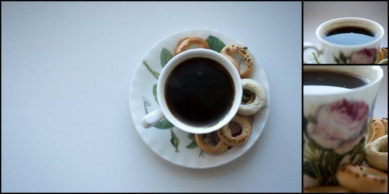 кофе, чашка, сушки По-турецкиphoto preview