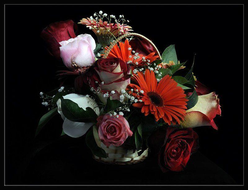 Красивые вечерние цветы для любимой женщины, маме день