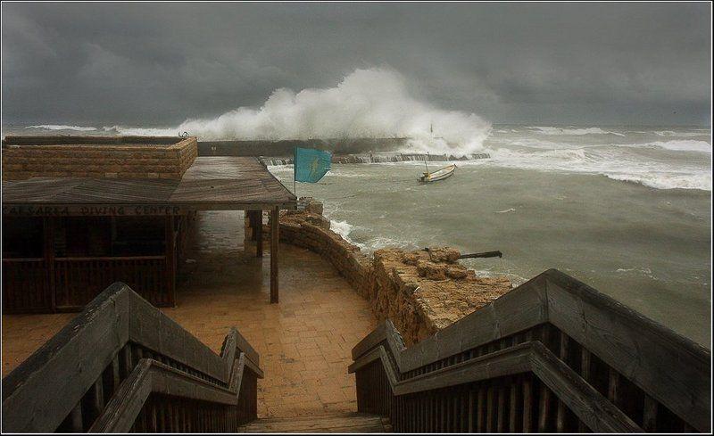 средиземноморье, шторм, , израиль, кейсария ....приглашение в Кейсарию...photo preview