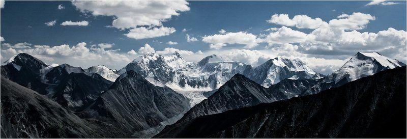 алтай, белуха, небо, облака, горы Небо. Облака. Горы.photo preview