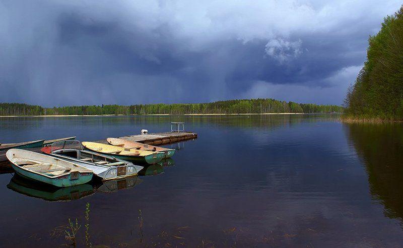 май, река, вуокса, пейзаж, буря, природа Перед бурейphoto preview