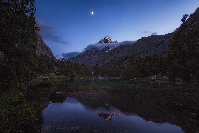 таджикистан, озеро, алаудины, вечер, ночь, сумерки Вечернее безмолвиеphoto preview