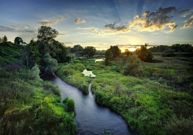 Закат на реке Коломенкаphoto preview