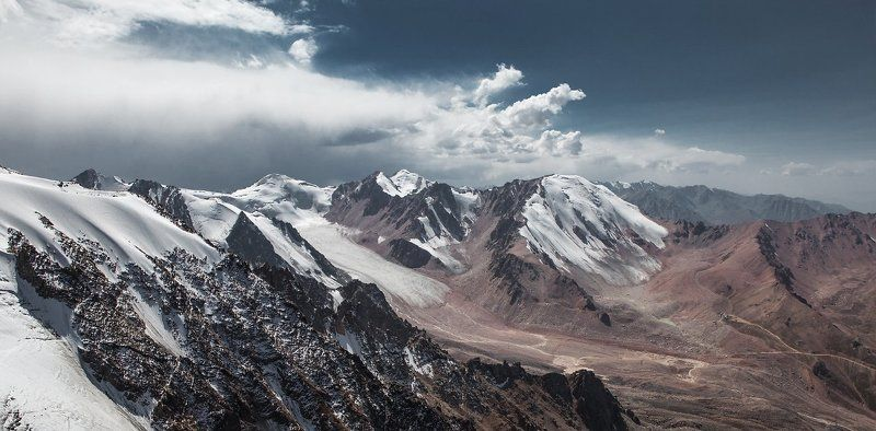 Almaty, Climbing, Clouds, Glacier, Kazakhstan, Mountains, Sky, Trekking Mountainsphoto preview