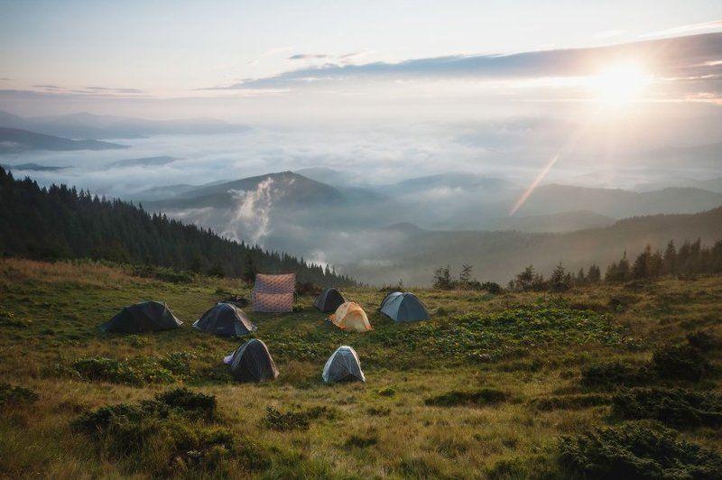 Горы, Карпаты, Пейзаж, Свет, Солнце, Украина, Утро * * *photo preview