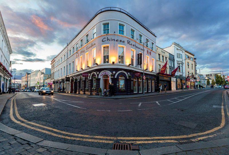 Вечер, Вечерний город, Голуэй, Город, Европа, Закат, Ирландия, Улица Вечерний Голуэйphoto preview