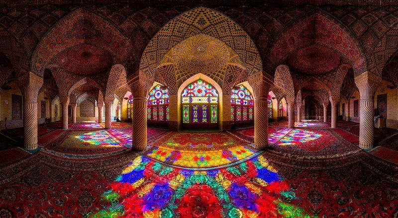 Architecture, Colorful, Iran, Light, Nature, Panorama, Persian, Stained photo preview